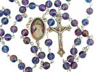 Catholic Gift 7MM Blue Purple Glass Bead Divine Mercy Center 18