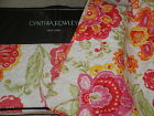 PINK ORANGE RED YELLOW Large Floral CYNTHIA ROWLEY 4pc QUILT Full Queen SET