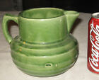 ANTIQUE MCCOY MATT GREEN COUNTRY STONEWARE MILK CREAM COW FARM BEVERAGE PITCHER