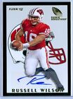 RUSSELL WILSON 2012 FLEER RETRO ROOKIE SENSATIONS RC ROOKIE AUTO AUTOGRAPH SP