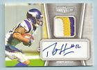 PERCY HARVIN 2010 TOPPS UNRIVALED 3 COLOR PATCH AUTOGRAPH AUTO 100 VIKINGS