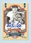 CARLTON FISK 2012 PANINI COOPERSTOWN AUTOGRAPH AUTO # 3 4