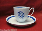P. REGOUT MAASTRICHT CHINA, HOLLAND - BLUE FLOWER - CUP & SAUCER SET
