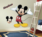 MICKEY MOUSE GiaNT WALL DECALS BiG Disney Stickers NEW Kids Bedroom Room Decor