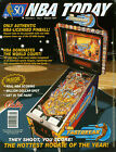 1997 BALLY NBA FASTBREAK PINBALL FLYER MINT