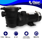 Rx Clear Above Ground 2 HP Single Speed Pump For Swimming Pool w Cord
