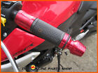 Red Quality Aluminium Hand Grips / Bar Ends fits Honda CD 200 Road Master
