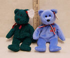 Rare Retired Ty Beanie Babies Collection 2000 Green Holiday Teddy Americana Bear
