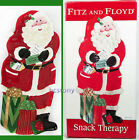 FITZ FLOYD CHRISTMAS SANTA Snack Therapy Cookie~Canape SERVING TRAY MINT in Box!