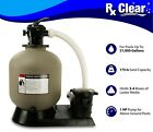 Rx Clear Radiant 19 Above Ground Swimming Pool Sand Filter System w 1 HP Pump