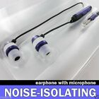PURPLE METAL STEREO HANDSFREE HEADSET + MIC For SAMSUNG PHONES EARBUD EARPHONE