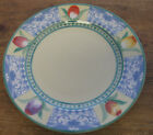 Villeroy Boch Perugia 1 Salad Dessert Plate Tulips Yellow Green Blue Beautiful