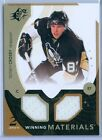 SIDNEY CROSBY 2010-11 SPX WINNING MATERIALS DUAL GAME USED JERSEY SP