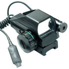 Tactical Holographic Red Green Reflex Scope and laser sight combo 4 Reticles
