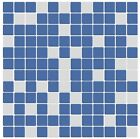 Blue and White Mix Frosted Glass Mosaic Tile for Bathroom, Kitchen, Backsplash