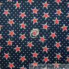 BonEful Fabric FQ Cotton Quilt Navy Blue Red White Small UK STAR Patriot*ic Flag