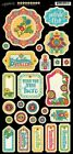 Graphic 45 BOHEMIAN BAZAAR 27 pc Chipboard TAGS Scrapbook Altered Arts