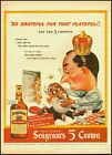 1944 Vintage ad for Seagram's 5 Crown Whiskey/Great illustration/WWII (032013)
