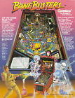 1989 GOTTLIEB BONE BUSTERS INC. PINBALL FLYER MINT