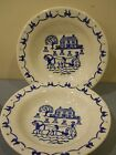 #5 METLOX POPPYTRAIL PROVINCIAL BLUE SOUP CEREAL SALAD BOWLS CALIFORNIA POTTERY