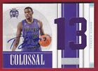 TYREKE EVANS RC 09-10 NATIONAL TREASURES COLOSSAL JERSEY NUMBER AUTO #20 49