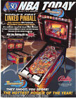 NBA FASTBREAK LINKED By BALLY 1997 ORIG NOS PINBALL MACHINE SALES FLYER BROCHURE