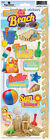 PAPER HOUSE BEACH FUN 2 SUMMER TRAVEL VACATION CARDSTOCK SCRAPBOOK STICKERS