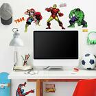 32 New CLASSIC MARVEL HEROES WALL DECALS Avengers Stickers Boys Bedroom Decor