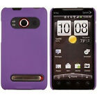 Sprint HTC EVO 4G Protector Rubberized Hard Case Snap on Phone Cover Dark Purple