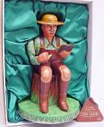 Alps Japan OLD MAN READING A BOOK Tin Club Character Figure #581 MIB`90 RARE!
