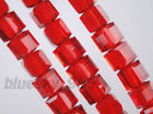 10pcs 8mm Cube Square Faceted Crystal Glass Loose Beads Jewelry Making Findings