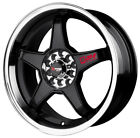 18 DRAG DR8 BLACK WHEELS RIMS TOYOTA TERCEL CELICA ECHO