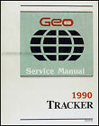 1990 Geo Tracker Original Shop Manual 90 Chevy Repair Service Book OEM LSi