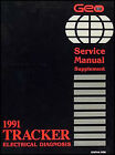 1991 Geo Tracker Electrical Diangosis Manual Wiring Diagrams 91 Service