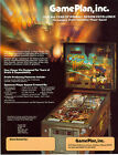 1985 GAME PLAN CAPTAIN HOOK PINBALL FLYER