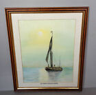 Vintage 1930's Watercolour 'A Thames Barge'