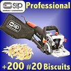 SIP 07904 Pro Biscuit Jointer 800w joiner router cutter +200 No 20 Biscuits 10 0