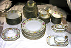 Haviland Johann 10703 gold-edged floral 64 Pieces Plates, Bowls, Cups, Saucers