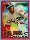DUSTIN PEDROIA 2010 TOPPS CHROME RED REFRACTOR SP 25