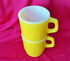 ANCHOR HOCKING STACKING MUGS BRIGHT YELLOW