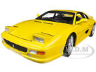 FERRARI F355 BERLINETTA YELLOW ELITE EDITION 1 18 MODEL CAR BY HOTWHEELS X5479