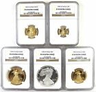 Complete 1995 W Proof Gold  Silver Eagle Set All PR69 Ultra Cameo NGC Graded