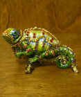 Kubla Crafts Jeweled Trinket Box KC3908 LIZARD, multi colored, From Retail Store
