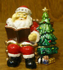 Kubla Crafts Jeweled Trinket Box #KC3613 SANTA with LIST, NEW From Retail Shop