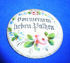 Antique German Porcelain Lidded Beer Stein Top Cover from my beloved Father #A28