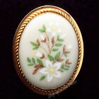 Lenox China BROOKDALE 12K GF Jewelry Pendant Brooch Pin or use with a Necklace