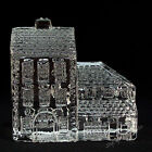 Waterford Crystal Lismore Village Houses HOTEL Made in Ireland Paperweight