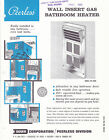 VINTAGE AD SHEET #3101 - 1968 PEERLESS WALL INSERT GAS HEATER