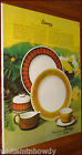 1966 FRANCISCAN CHINA Discovery Topaz Terra Cotta AD