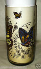 Anchor Hocking Vintage Mod Retro Smokey Brown Butterfly Drinking/Tumbler/Glass